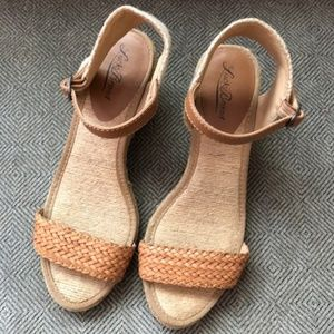 Lucky Brand Wedge Sandals - Tan, Size 7